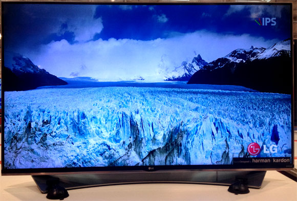 LG SMART TV 55UF9500 4Kテレビ画面