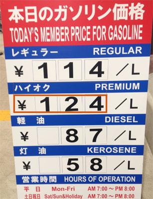 ガソリン価格2015年12月02日
