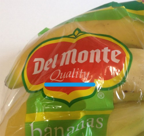 delmonte qualityのバナナ