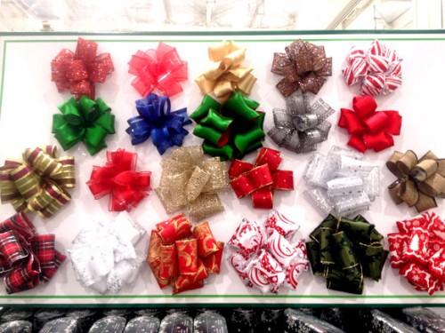クリスマス用贈答リボンを付けると