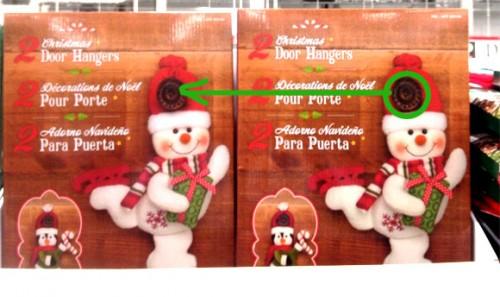 クリスマス用ドアハンガー