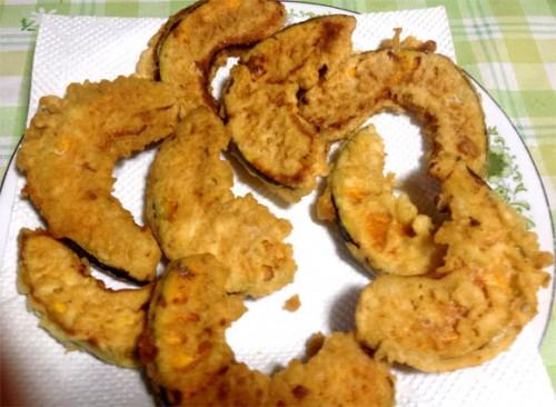 かぼちゃをフランパンで揚げ完成