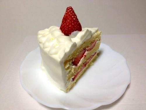 ショートケーキを試食