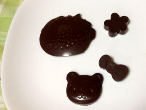 チョコレートのテンパリング成功例