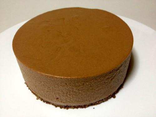手作りチョコレートチーズケーキ完成