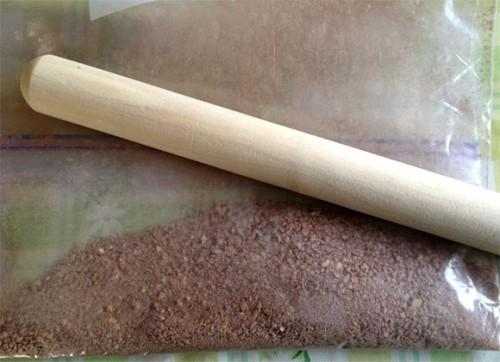 チョコレートチーズケーキ底部づくり