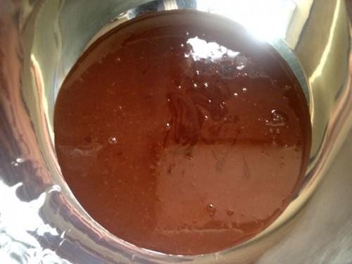 チョコレートクリーム作り