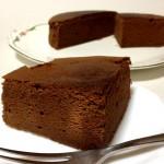 『ガトーショコラ』濃厚、甘さ控えめビター味で初めて作ってみた!
