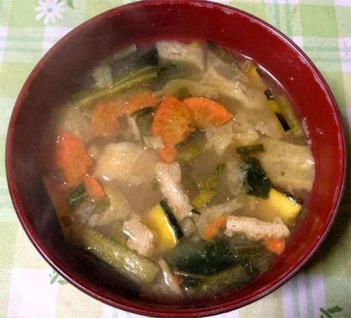マルコメ 京懐石 味噌汁セットの野菜に湯を注ぐと