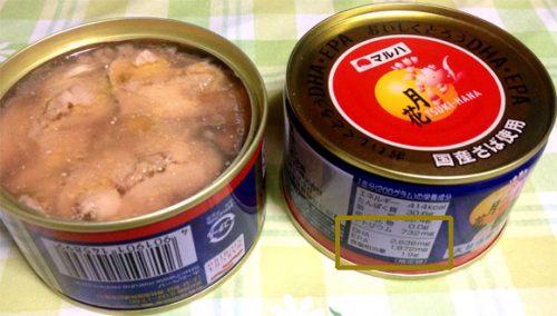 DHA・EPAがたっぷり含むマルハのサバ缶『月花』