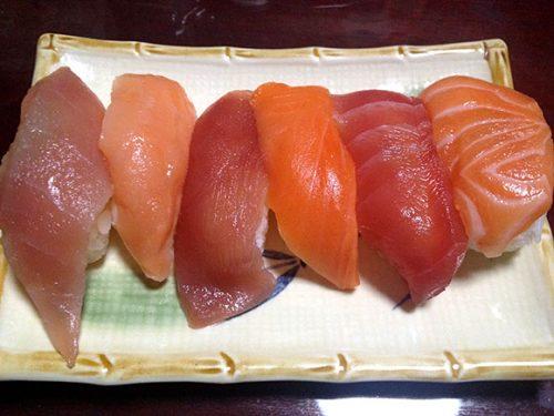 コストコの寿司、くら寿司の寿司、スシローの寿司