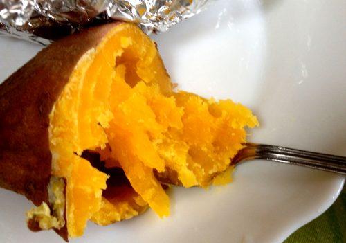 焼きあがった安納芋
