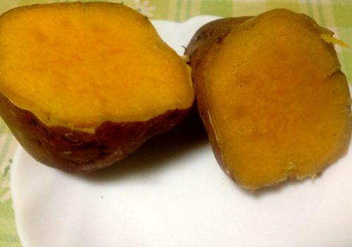 コストコで購入して鍋で蒸し焼きした安納芋