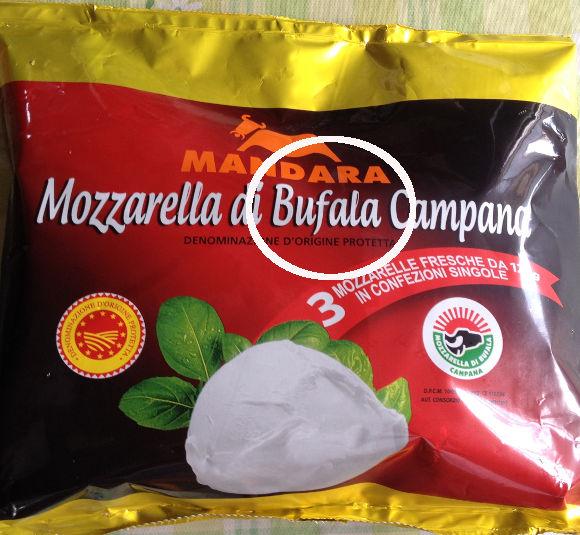 水牛由来のモッツァレラチーズ