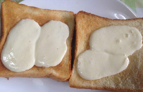 モッツァレラチーズを常温に戻してトーストに