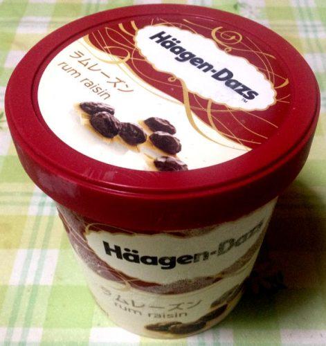 ハーゲンダッツ・ラムレーズンアイスクリーム
