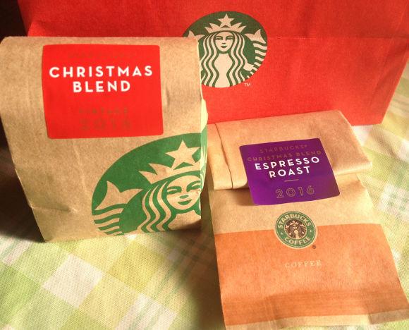 スタバのコーヒー、クリスマス プレンド豆
