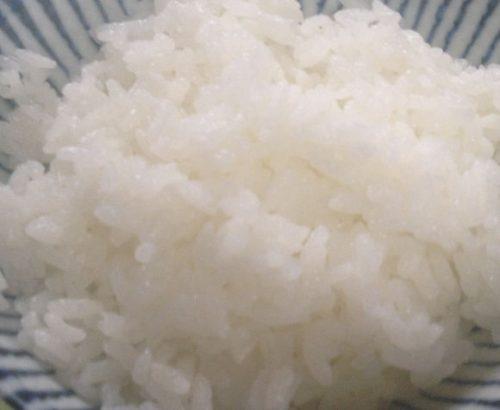 炊きあがったコシヒカリブレンド無洗米