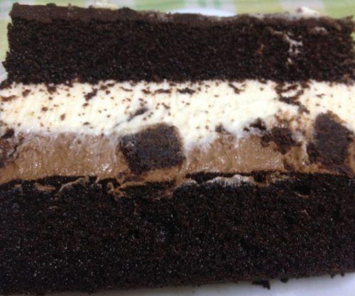 タキシードケーキの食べ方