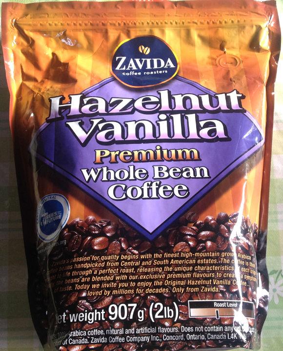 『ヘーゼルナッツ・バニラ・ホールビーンズコーヒー』豆