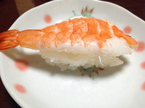コストコの寿司のネタのえび
