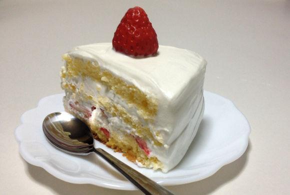 簡単手早作った手作りショートケーキ