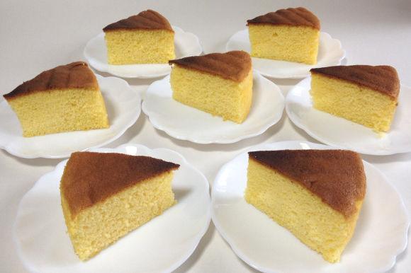 美味しいスポンジケーキが完成