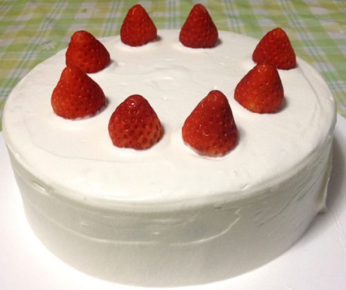 手作りケーキが完成