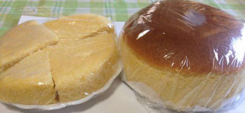 グラニュー糖の有り、無しでケーキの膨らみ具合が変わる