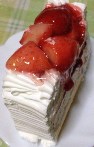 バーケーキを8等分した大きさ